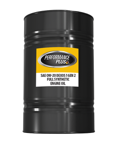 Performance Plus® 0W-20 Full Synthetic  ~ dexos1 Gen 2  (1 Single, 55 Gallon Drum)