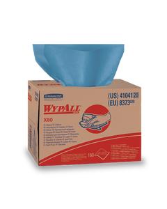 Kimberly-Clark® WypAll* X80 Wipers ~ Brag Box - Blue (1 Box, 160 Wipers)