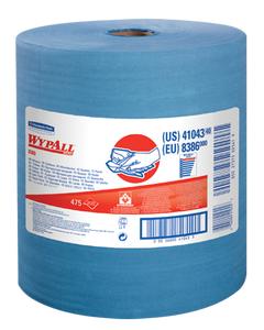 Kimberly-Clark® WypAll* X80 Wipers ~ Jumbo Roll - Blue (1 Roll, 475 Wipers)