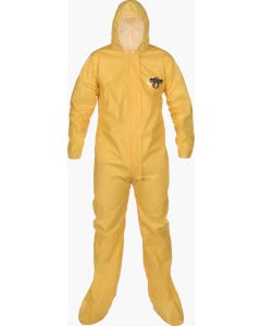 Coveralls with Attached Hood& Boots ~ 4XL (Case of 25 coveralls)