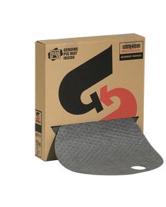 PIG® Barrel Top Absorbent Mat ~ Heavyweight for 55 Gallon Drums (1 Box, 25 Mats)