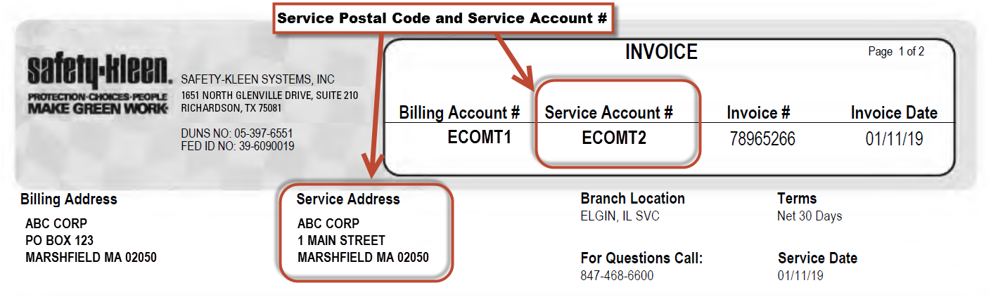 Step 1 - Gather Service Account and Postal Code