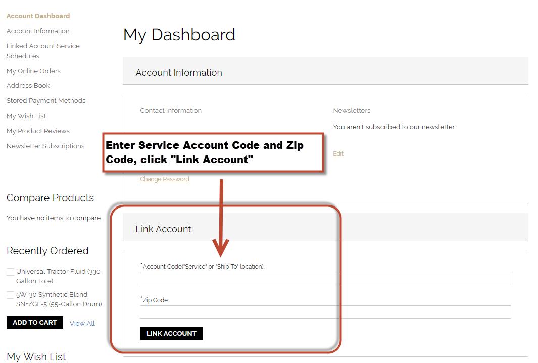 Step 3 - Link Accounts